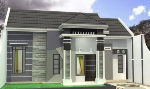 Kombinasi Warna Cat Teras Rumah Abu-abu & Putih