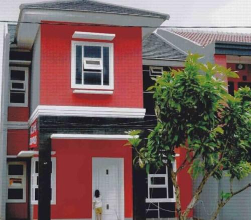 Kombinasi Warna Cat Teras Rumah Merah & Hitam