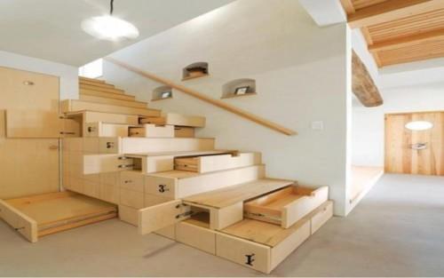 Model Tangga Kayu Rumah Minimalis Bergaya Modern